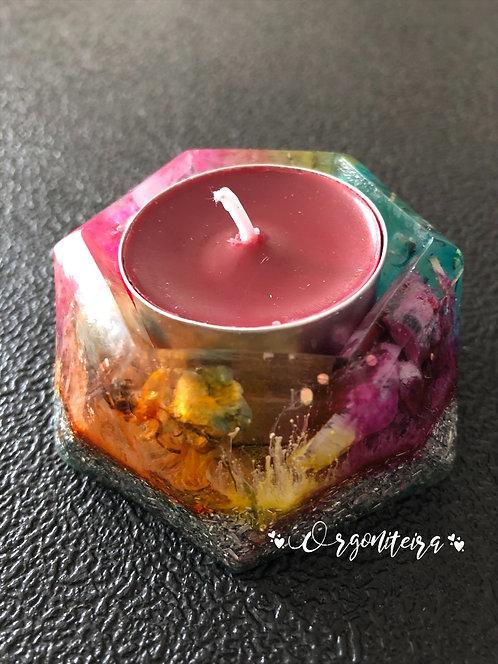 Orgonite Porta velas esmeralda