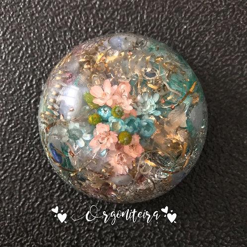 Orgonite Floral Quartzo azul