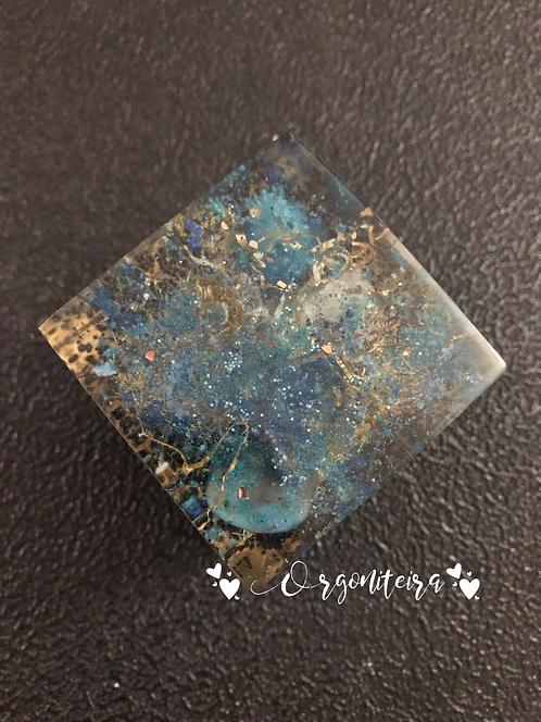 Orgonite Cubo Ágata azul