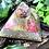 Orgonite Pirâmide Queops Citrino com Ametista