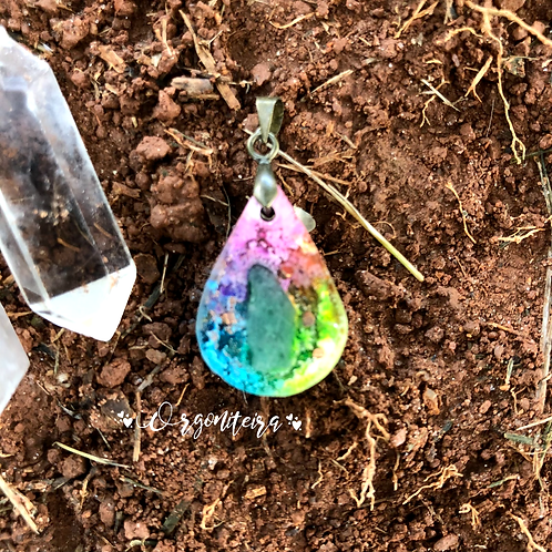 Orgonite Mini Gota Quartzo verde