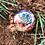Orgonite Esfera Colours Jaspe vermelho com turmalina