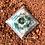 Orgonite Pirâmide Queops Amazonita com Quartzo rosa