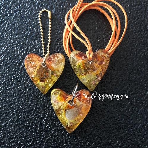 Orgonite Mini coração colours Citrino