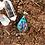 Orgonite Mini Oval Cianita azul
