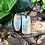 Pingente Clave de Sol Orgonite Citrino com Cianita azul