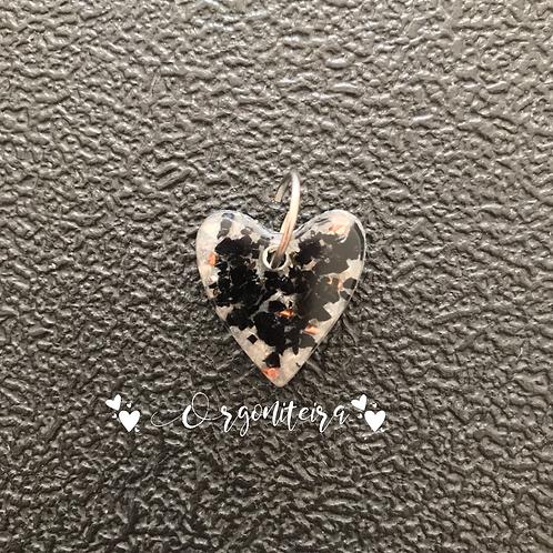 Orgonite coração pet Turmalina negra