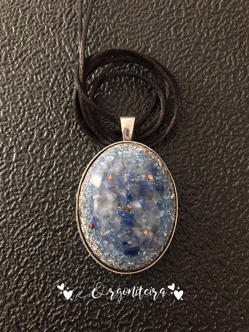 Orgonites Pingente Oval Quartzo azul