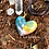 Pingente Orgonite Coração Quartzo verde