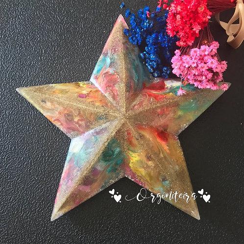 Orgonite Estrela 5 pontas Ametista