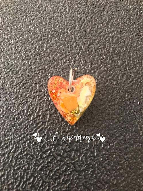 Orgonite coração colours - Jaspe amarelo