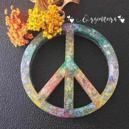 Orgonite Paz e Amor Sodalita com Quartzo verde