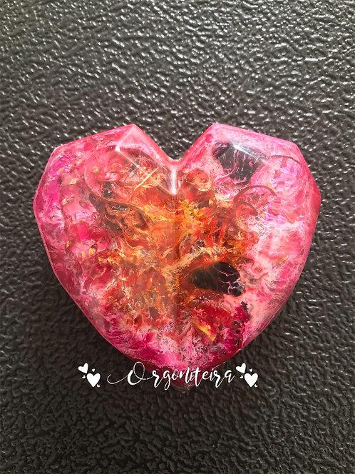 Orgonite coração 3D Colours Turmalina negra