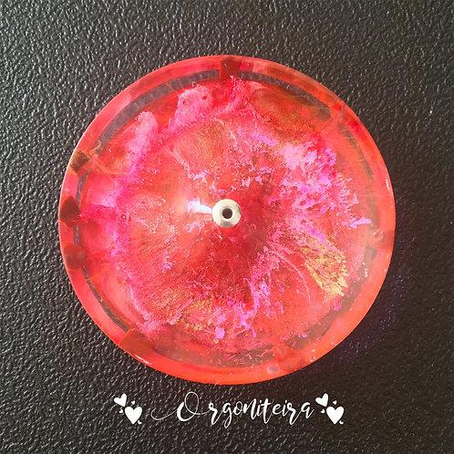 Orgonite Incensário Jaspe vermelho