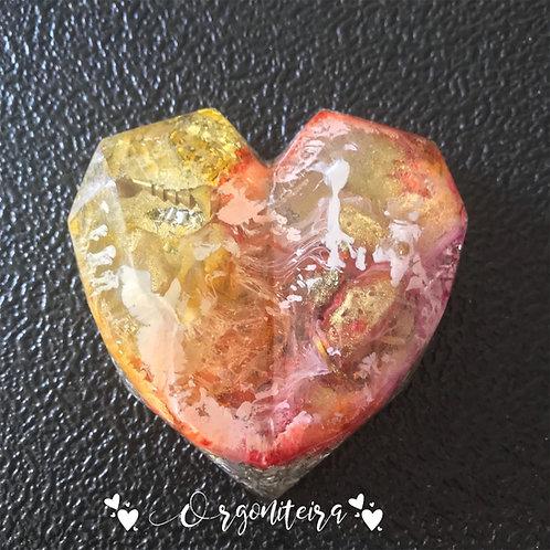 Orgonite coração 3D Citrino