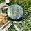 Orgonite Medalhão ou amuleto Semente da vida Cianita Azul