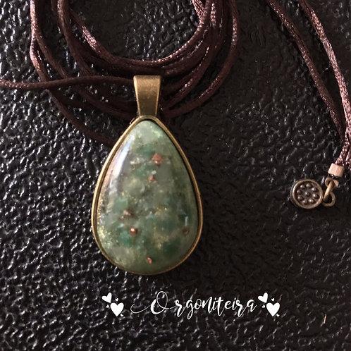 Orgonite pingente quartzo verde