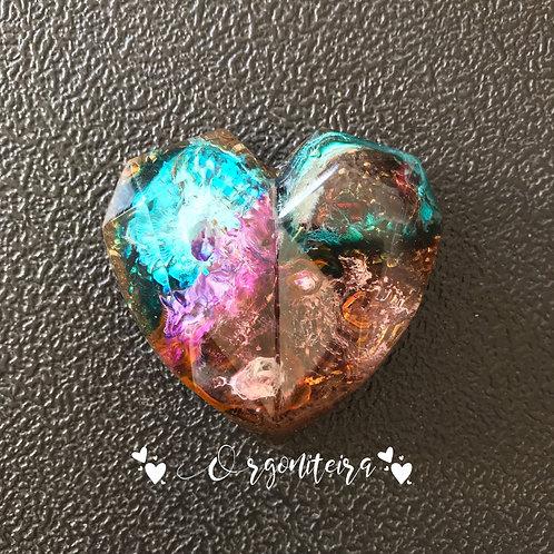 Coração 3D - Citrino