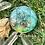 Orgonite Medalhão ou amuleto Semente da vida Esmeralda