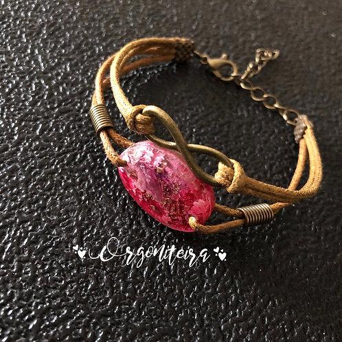 Orgonite pulseira Turmalina Rosa