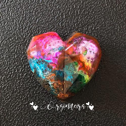 Orgonite Coração 3D Pirita
