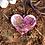 Pingente Orgonite Coração Quartzo rosa com Selenita