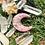Pingente Orgonite Lua Quartzo rosa com Selenita