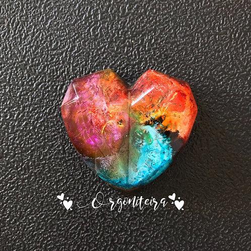 Orgonite Coração 3D Quartzo Rosa