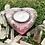 Orgonite Porta velas coração Quartzo rosa com Selenita