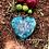 Orgonite Coração 3D  Quartzo verde