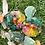 Orgonite Porta copos Octógono kit com 2 Quartzo verde