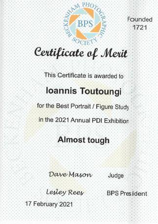 Certificate of Merit-Ioannis Toutoungi