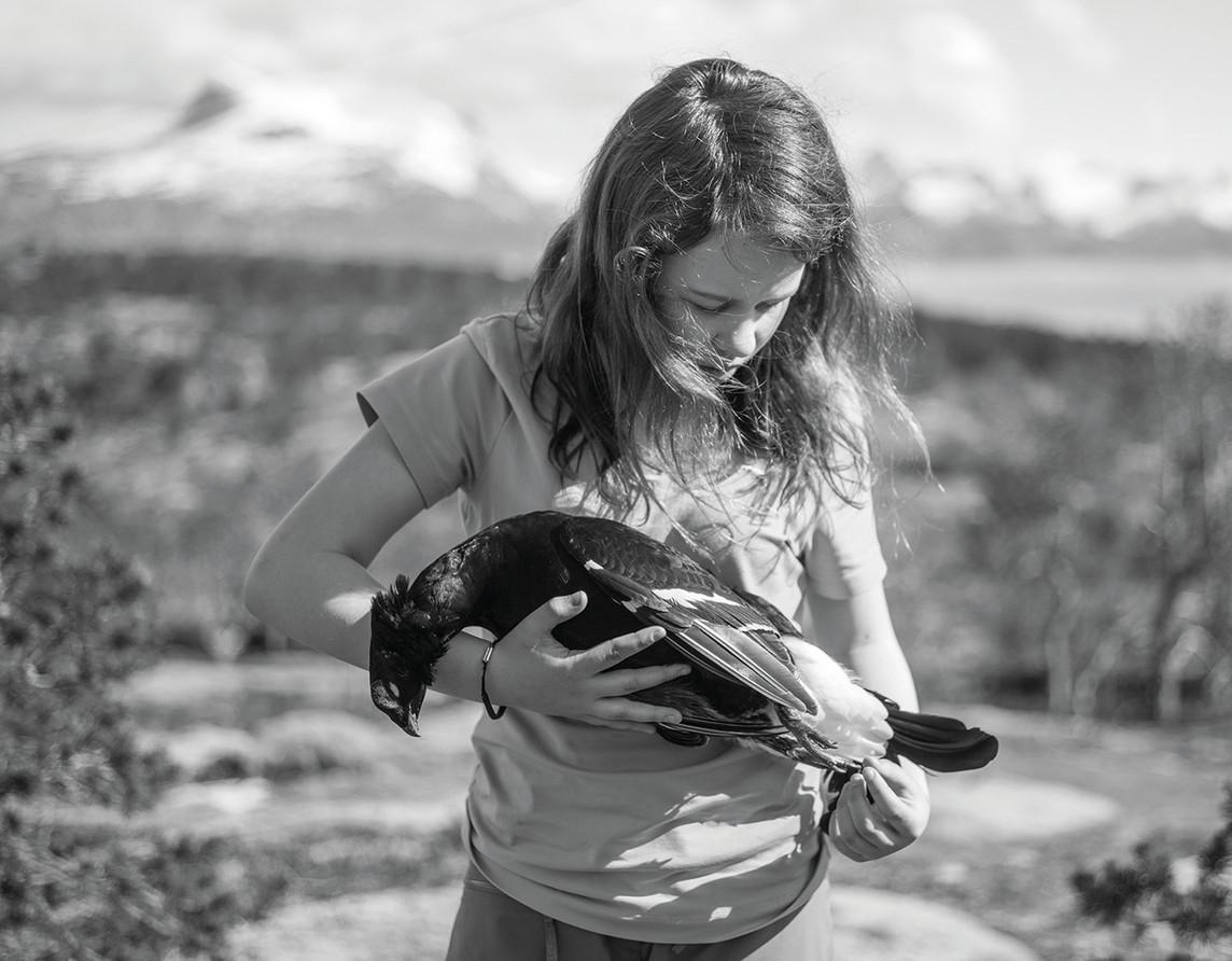 human behavior -Girl with dead black grouse-72.jpg