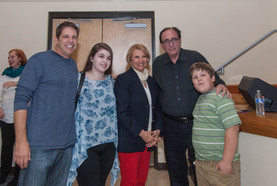 R.L. Stine with Marie and family