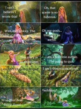 Emotions of writing