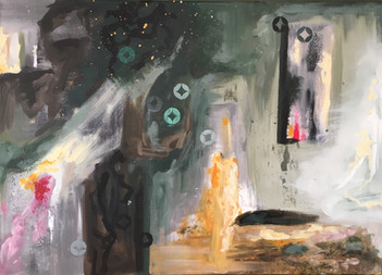 """Et ildsted"", 50 x 70 cm"