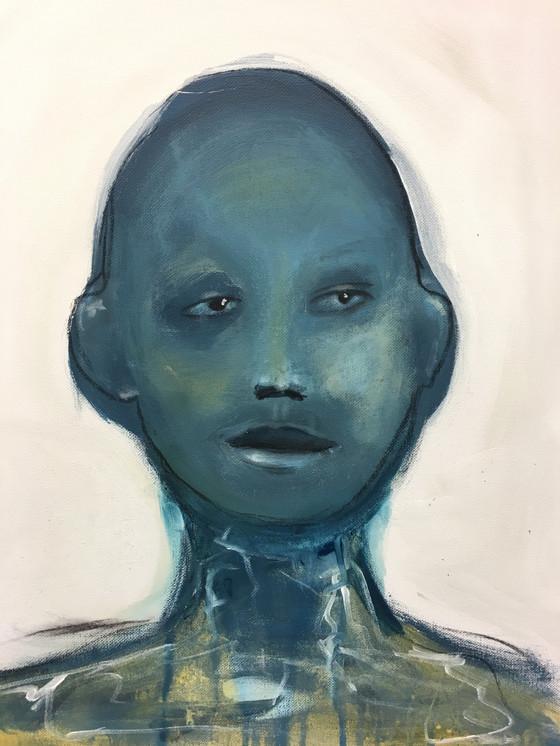 """""""Blå mann"""", 50 x 40 cm"""