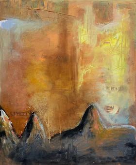"""""""Tanker ved solnedgang"""", 70 x 60 cm"""
