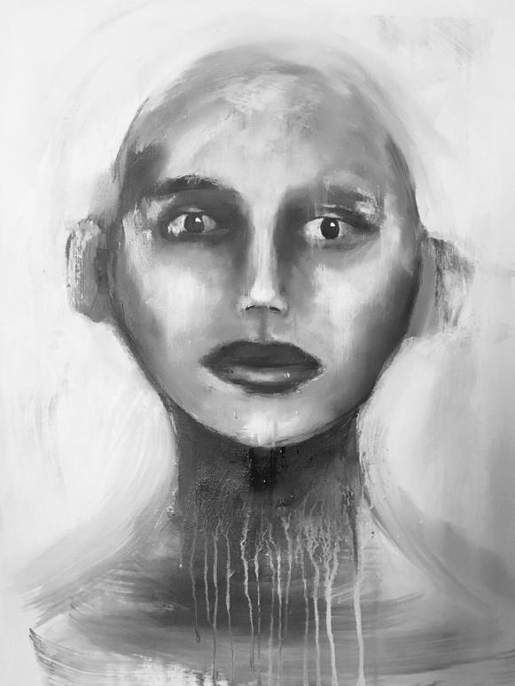 """""""Innsikt"""", 60 x 50, SOLGT"""