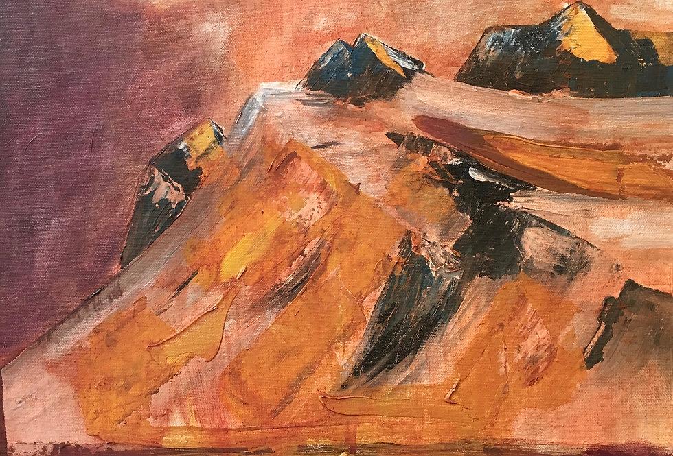 Golden Mountain, 45 x 37 cm