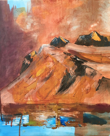 """Golden Mountains"", 45 x 37 cm"