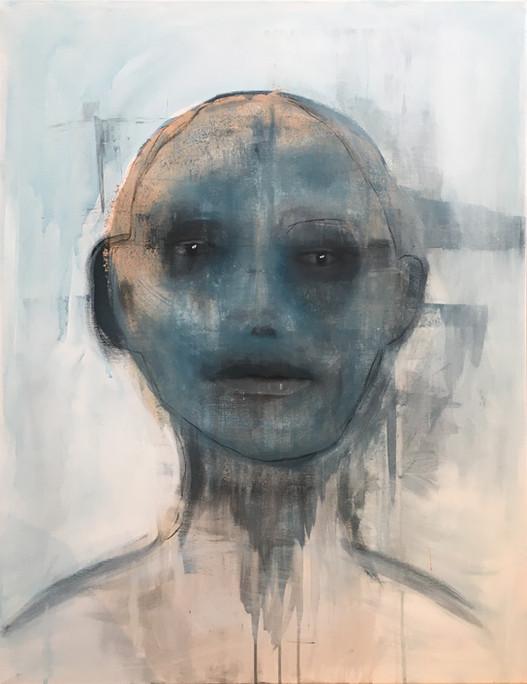 """""""Blå mann dag"""", 90 x 70 cm"""