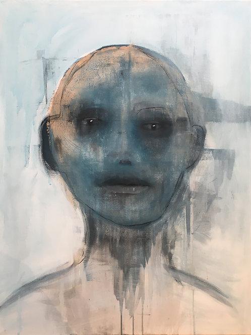 Blå mann dag, 90 x 70 cm
