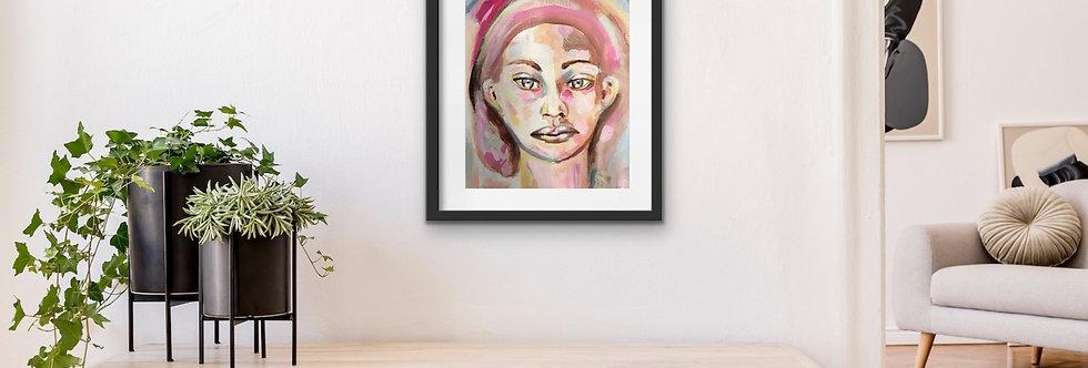 She (A4), Innrammet 30 x 40 cm