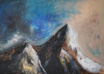 Fjell, 50 x 70 cm, SOLGT