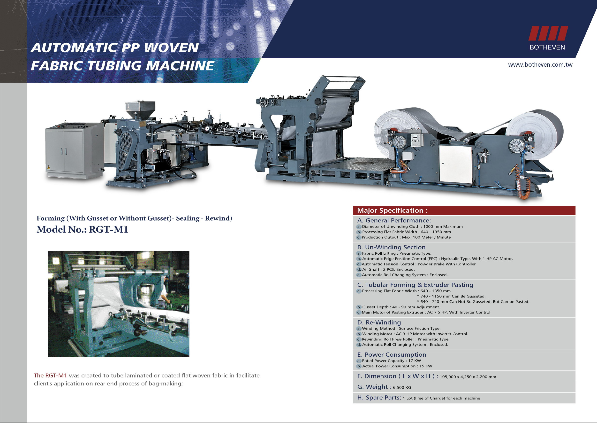 Tubing Machine-specification