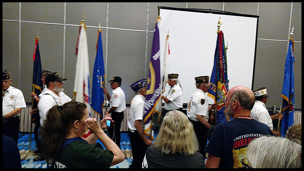 Veterans from the Oneida Nation performed the opening ceremonies.