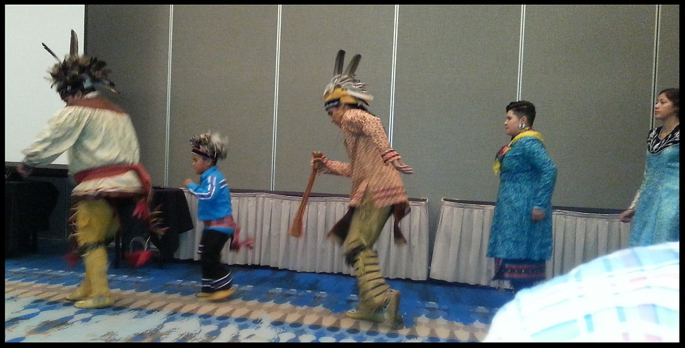 Dancers from the Oneida Nation. The young man in the middle was an incredible dancer.
