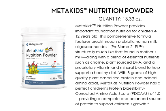 MetaKids Nutrition Powder