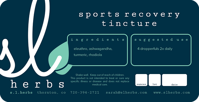 Sports Recovery TIncture